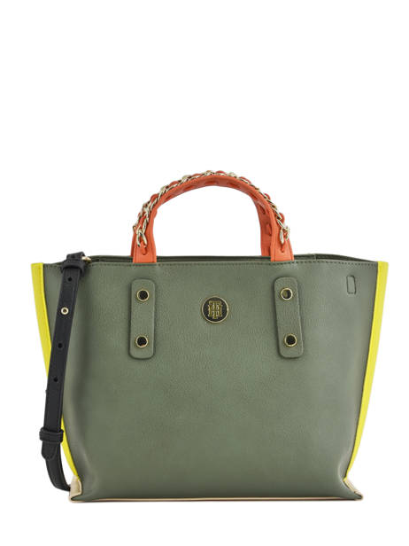 Sac Porté Main Th Chain Tommy hilfiger Vert th chain AW05462