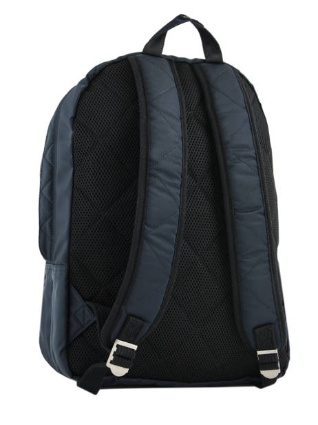Backpack 2 Compartments Schott Blue army 18-63702 other view 4