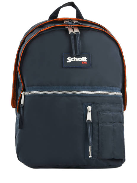 Backpack 2 Compartments Schott Blue army 18-63702