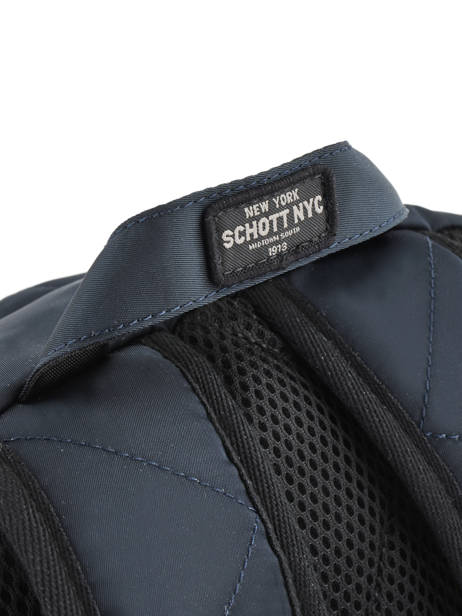 Backpack 2 Compartments Schott Blue army 18-63702 other view 1