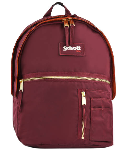 Backpack 2 Compartments Schott Red army 18-63704