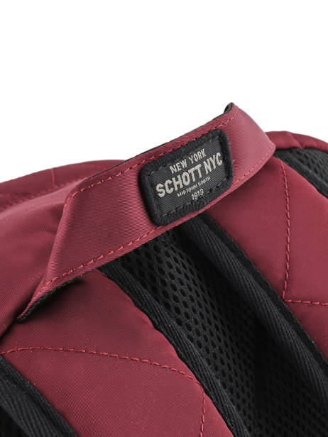 Backpack 2 Compartments Schott Red army 18-63704 other view 1