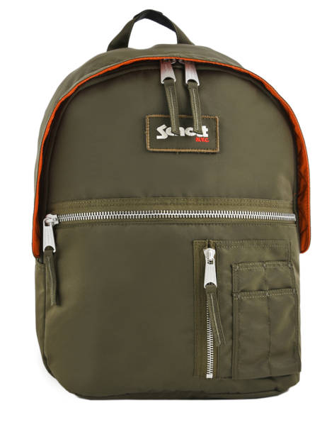 Backpack 1 Compartment Schott Green army 18-62707