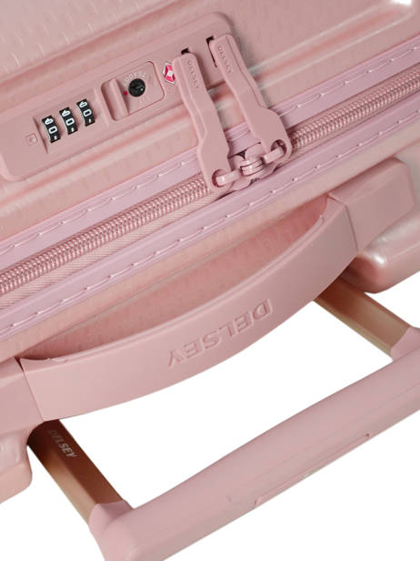 Cabin Luggage Delsey Pink turenne 1621803 other view 1