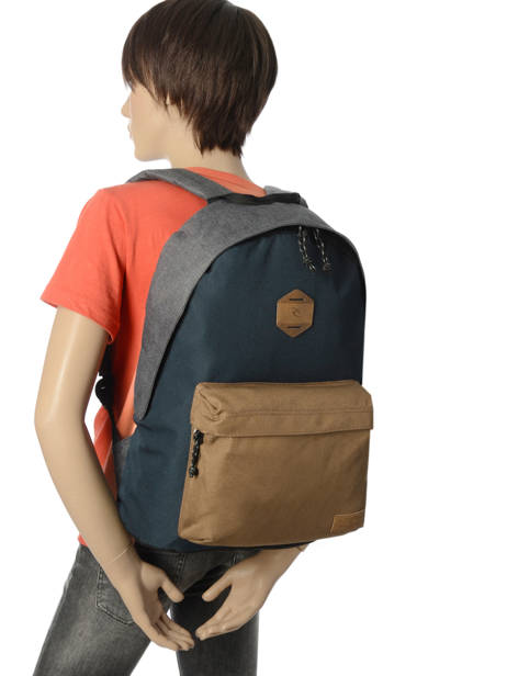 Backpack 1 Compartment Rip curl Blue stacka BBPVR2 other view 2