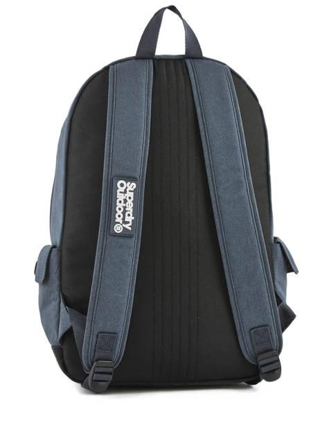 Sac à Dos 1 Compartiment Superdry Bleu backpack men M91011NQ vue secondaire 3