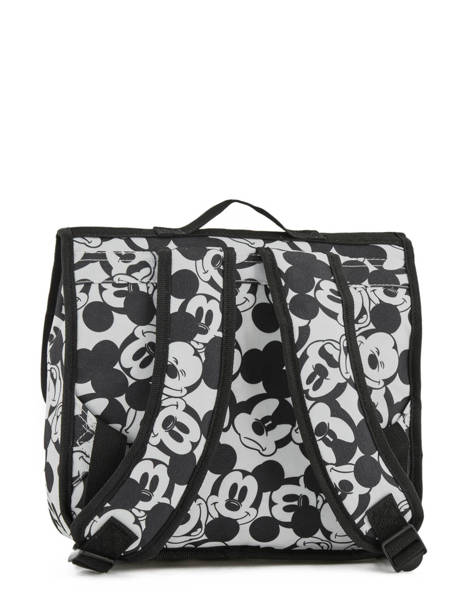 Cartable 1 Compartiment Mickey and minnie mouse Blanc fashion 88-8879 vue secondaire 3