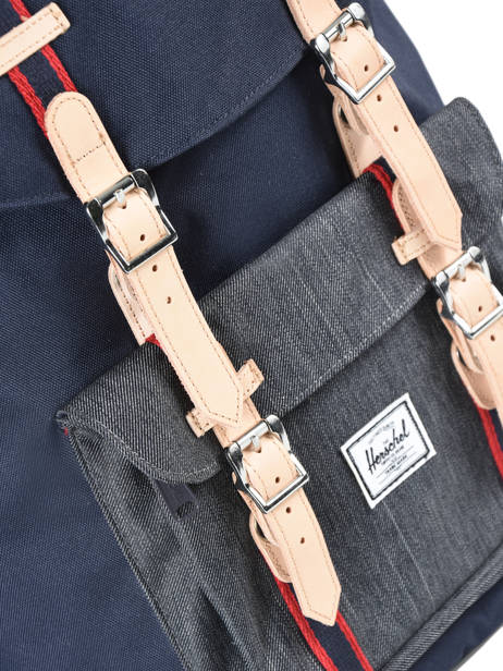 Backpack 1 Compartment Herschel Black offset 10014-O other view 1