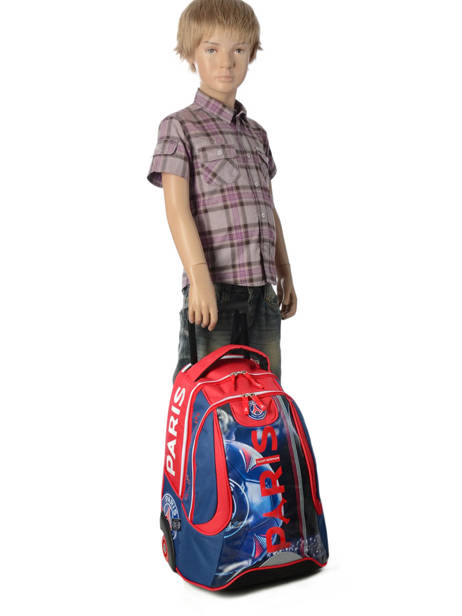 Wheeled Backpack 2 Compartments Paris st germain Multicolor ici c'est paris 173P204R other view 3