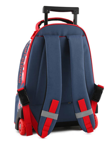 Wheeled Backpack 2 Compartments Paris st germain Multicolor ici c'est paris 173P204R other view 4