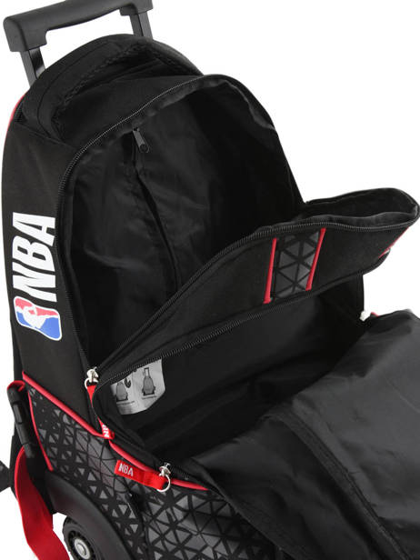 Wheeled Backpack 2 Compartments Nba Black basket 183N204R other view 5