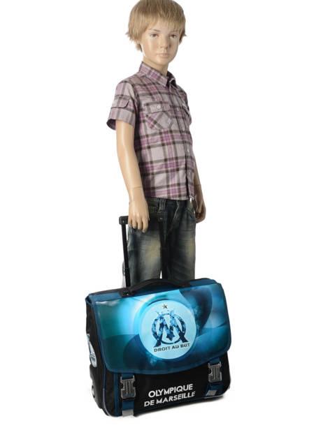 Wheeled Schoolbag 2 Compartments Olympique de marseille Blue droit au but 183O203R other view 3