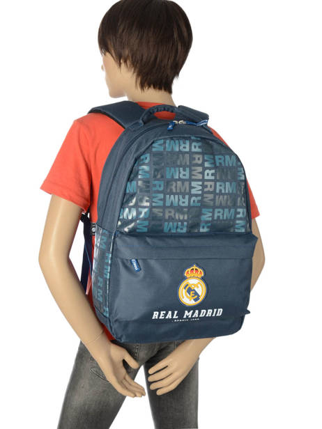 Backpack 1 Compartment Real madrid Blue 1902 183R204B other view 2
