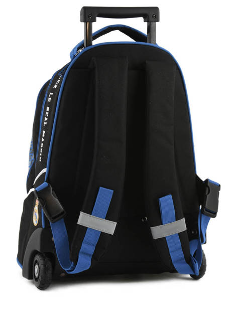 Wheeled Backpack 2 Compartments Real madrid Black 1902 183R204R other view 4