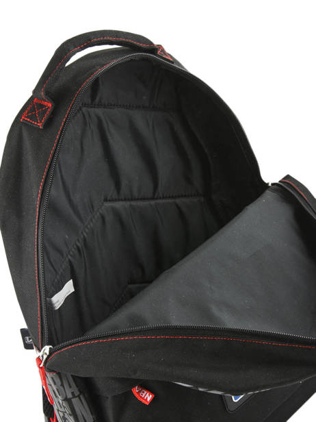 Backpack 1 Compartment Nba Black basket 183N204B other view 4