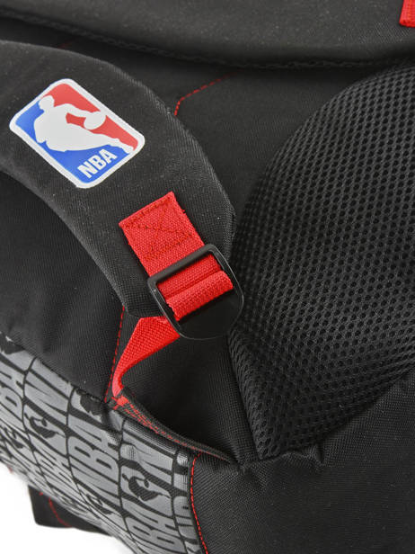 Backpack 1 Compartment Nba Black basket 183N204B other view 1