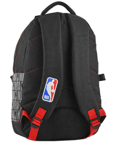 Backpack 1 Compartment Nba Black basket 183N204B other view 3