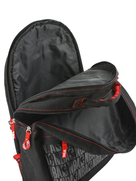 Backpack 2 Compartments Nba Black basket 183N204D other view 4