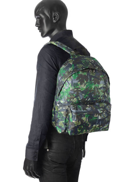 Backpack 1 Compartment Miniprix Green basic L07917 other view 2
