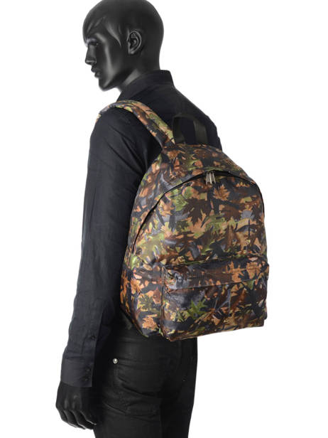 Backpack 1 Compartment Miniprix Brown basic L07917 other view 2