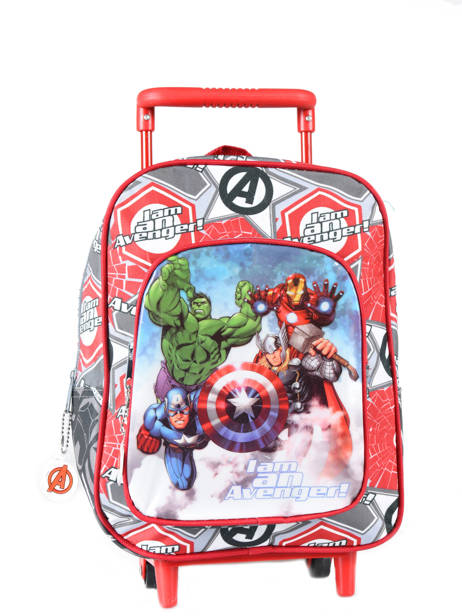 Wheeled Backpack Avengers Red basic AST4671
