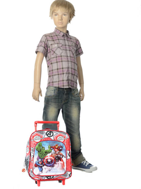 Wheeled Backpack Avengers Red basic AST4671 other view 1