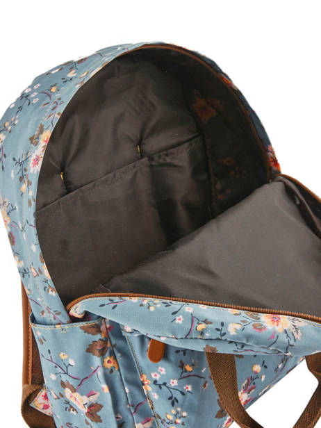 Sac à Dos 1 Compartiment Basilic pepper Bleu liberty G657-FLO vue secondaire 4