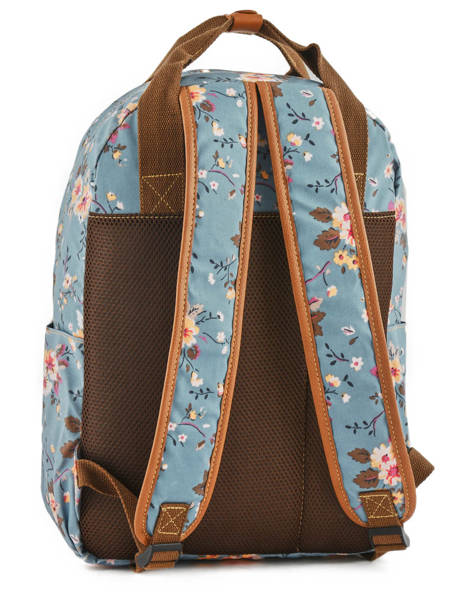 Sac à Dos 1 Compartiment Basilic pepper Bleu liberty G657-FLO vue secondaire 3