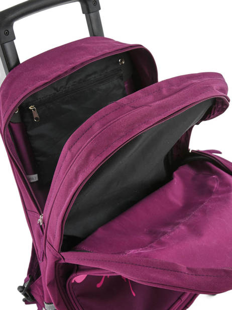 Wheeled Backpack Miniprix Violet school 15404 other view 5