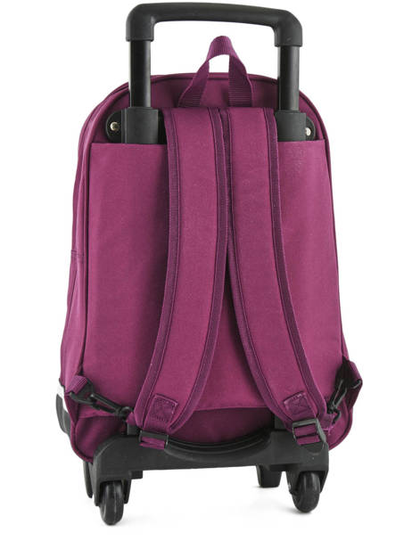 Wheeled Backpack Miniprix Violet school 15404 other view 4