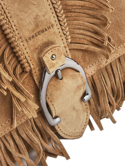 Longchamp Amazone folk Besaces Beige