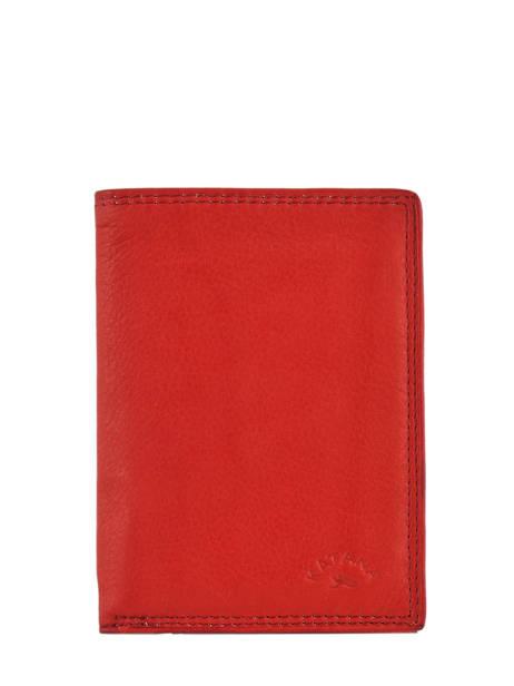 Wallet Leather Katana Red marina 753096