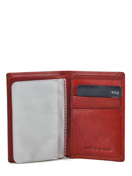 Porte-cartes Cuir Spirit Rouge medium 6905C vue secondaire 1