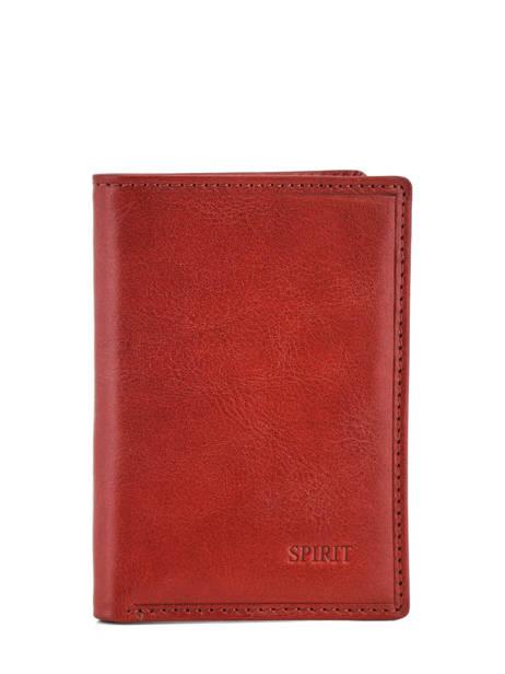 Porte-cartes Cuir Spirit Rouge medium 6905C
