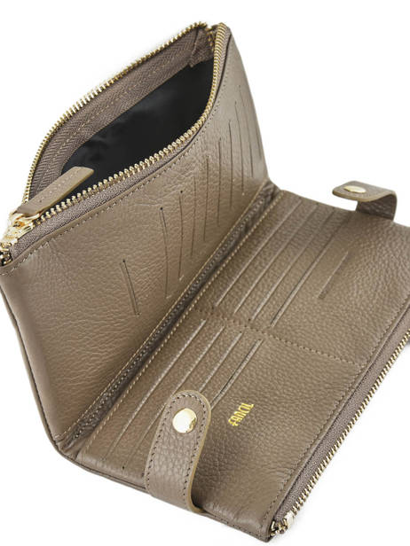 Purse Leather Miniprix Gray fancil LS2597 other view 2