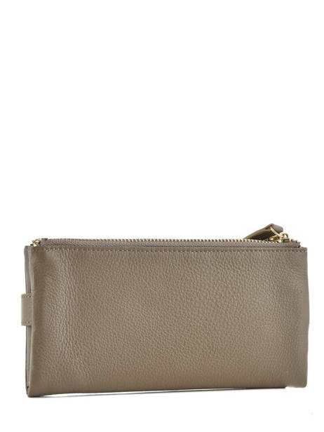 Purse Leather Miniprix Gray fancil LS2597 other view 1