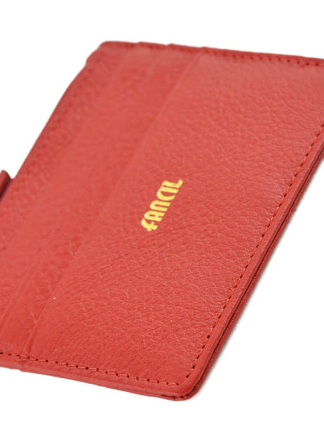 Card Holder Leather Miniprix Red fancil LS2596 other view 1