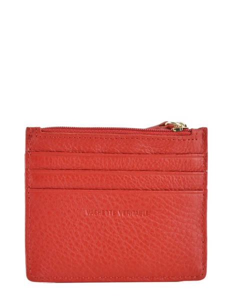 Card Holder Leather Miniprix Red fancil LS2596 other view 2