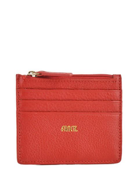 Card Holder Leather Miniprix Red fancil LS2596