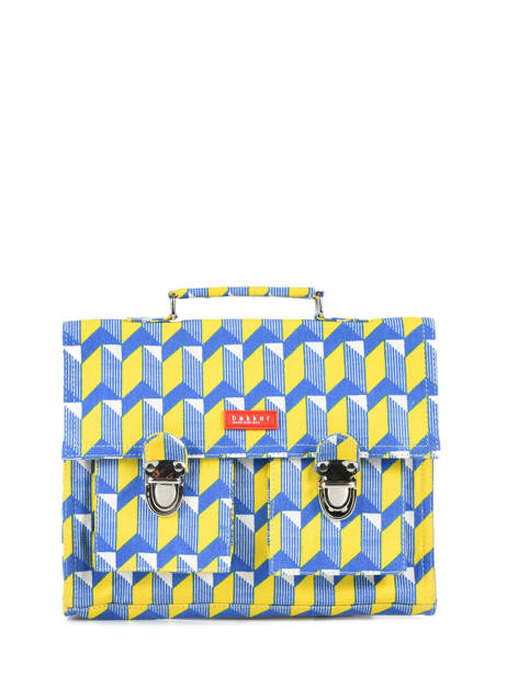 Mini Satchel 1 Compartment Bakker Yellow canvas CAR28CAN