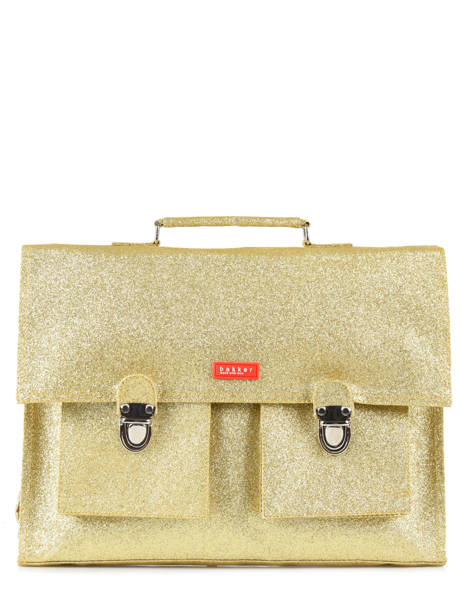 Satchel 1 Compartment Bakker Brown glitter CAR38GLI