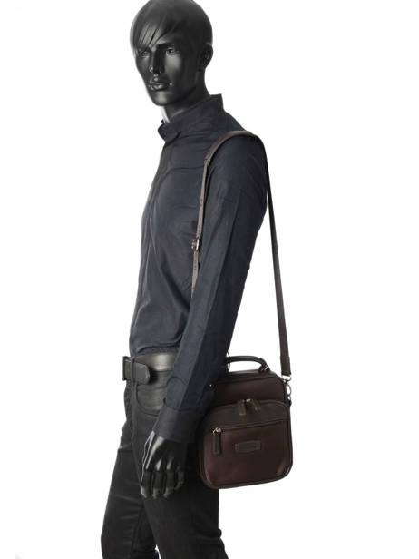 Messenger Bag Hexagona Brown travel business 293805 other view 1
