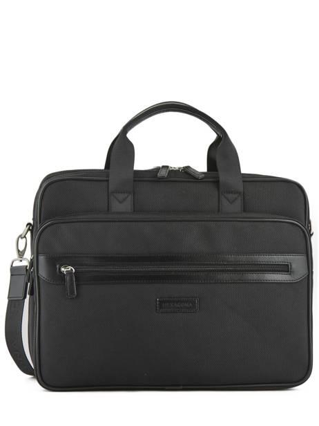 Briefcase Hexagona Black worker D72496