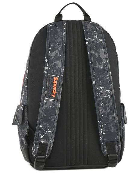 Sac à Dos 1 Compartiment Superdry Noir backpack men M91004MR vue secondaire 3