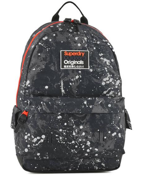 Sac à Dos 1 Compartiment Superdry Noir backpack men M91004MR