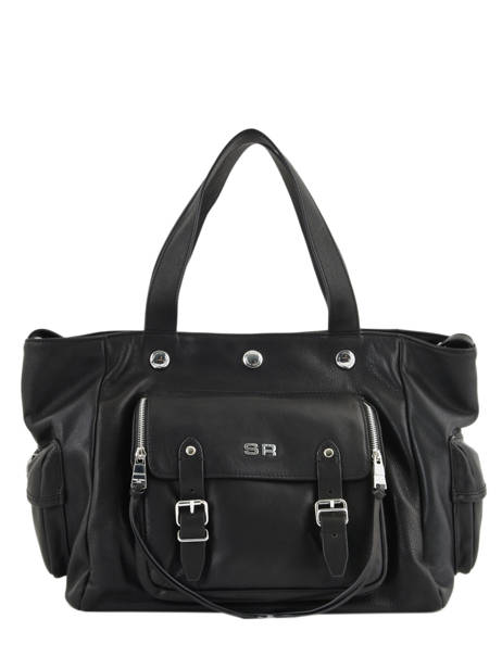 Sac Shopping Luxembourg Cuir Sonia rykiel Noir luxembourg 2296-44