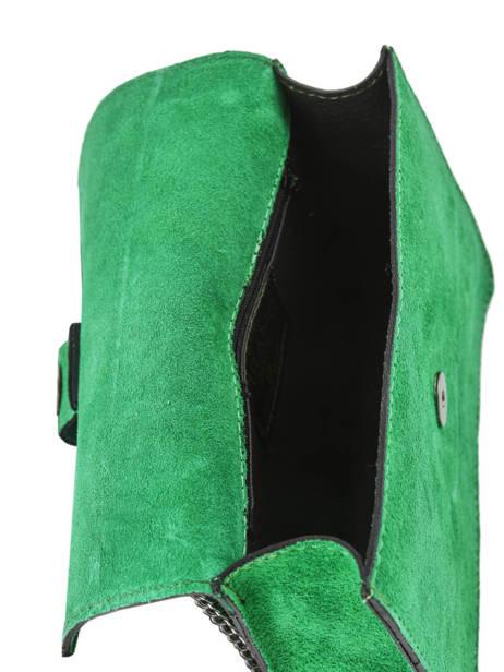 Sac Bandoulière Velvet Milano Vert velvet VE180602 vue secondaire 3