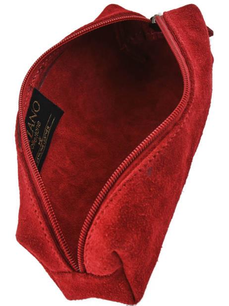 Trousse Cuir Milano Rouge velvet VE151101 vue secondaire 2