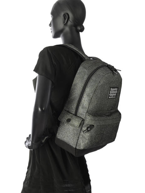 Backpack 1 Compartment Superdry Gray backpack woomen G91006JR other view 3