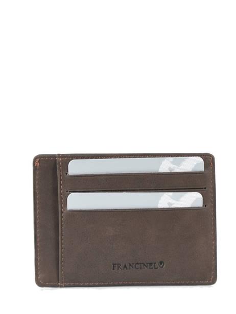 Porte-cartes Cuir Francinel Marron bilbao 47902 vue secondaire 2